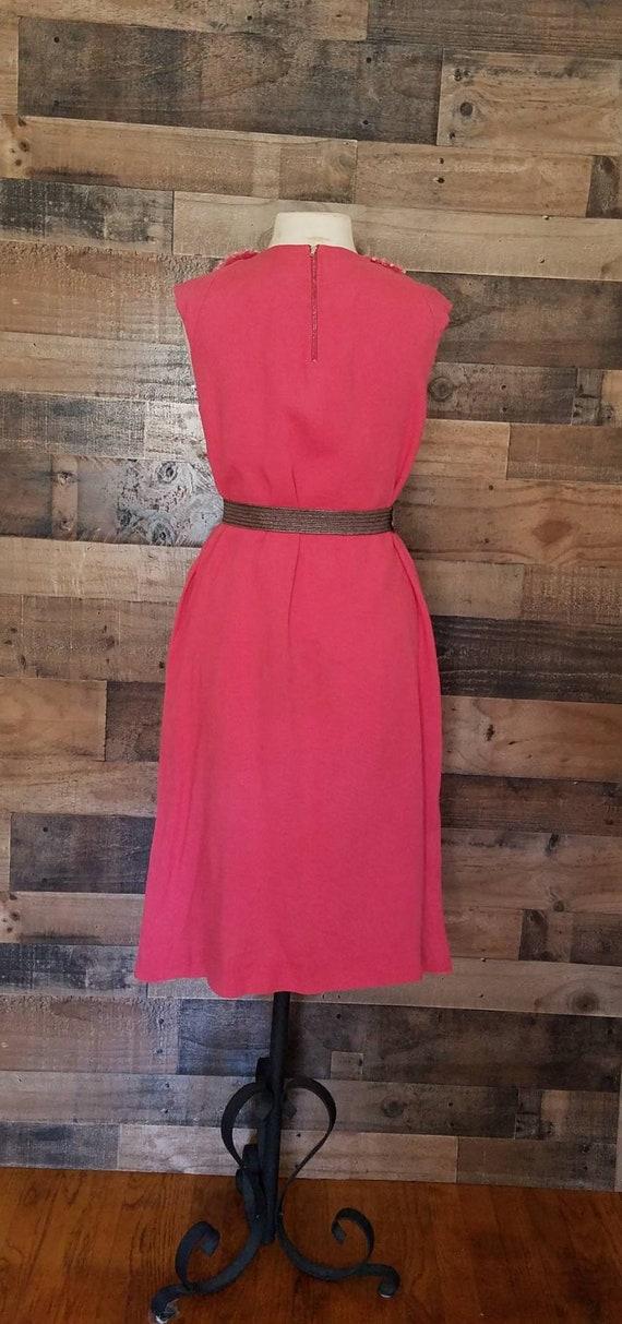 1960's Plus Size Midi Dress* Peter Pan Collar - image 3