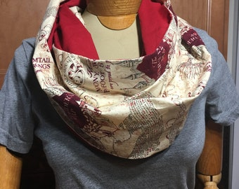 Harry Potter Marauders Map Infinity Scarf-Two Toned