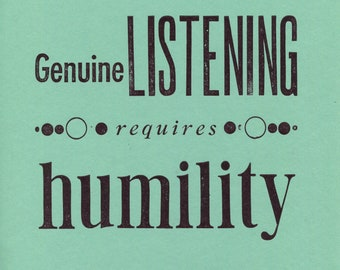 Genuine Listening Letterpress Print