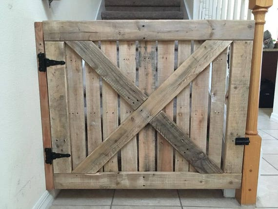 Recycled Pallet Wood Baby Pet Stairs Gate Etsy