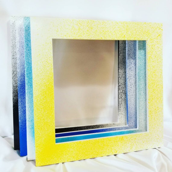 Bright Colorful Splash Picture Frames 8x8 Inches Etsy