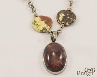 Earthy style necklace J108W