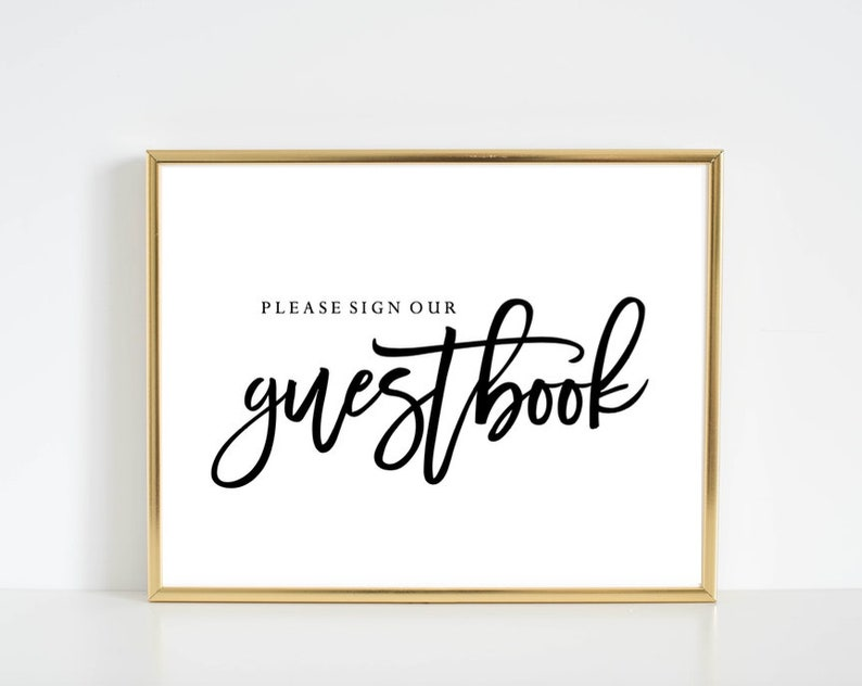 photograph about Please Sign Our Guestbook Printable titled Make sure you Signal Our Guestbook - PRINTABLE Indicator - Immediate Down load! For Wedding day  Bridal Shower Kid Shower