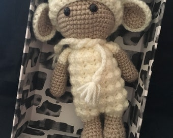 Amigurumi crochet sheep , toy to play