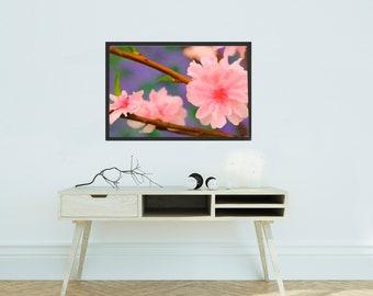 flowers print, oil painting, landscape, instant download