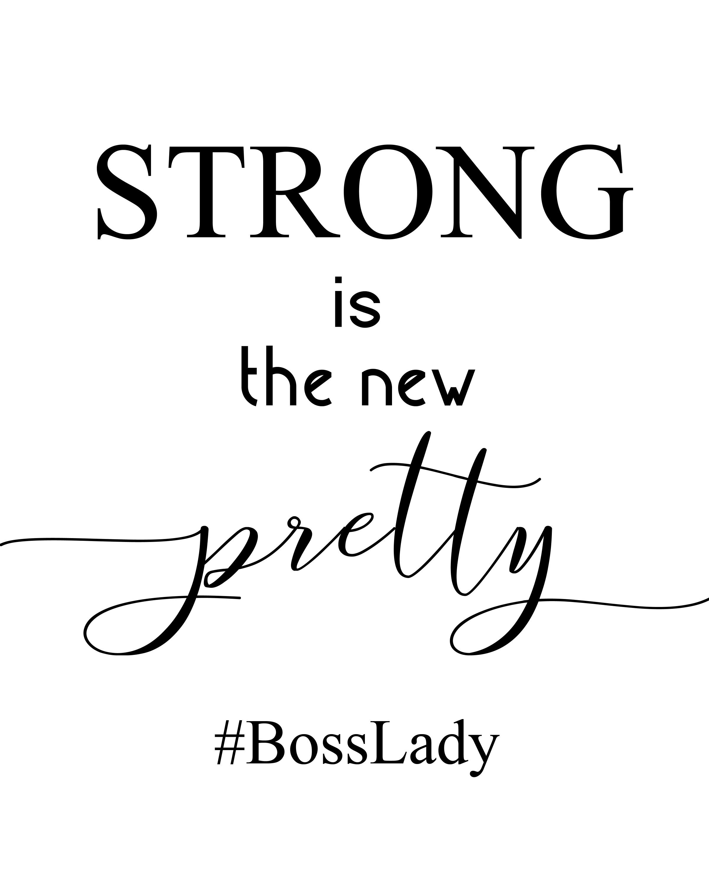 strong is the new pretty custom quote digital prints prints | etsy