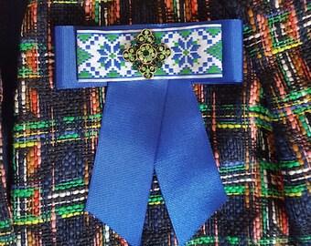 Gucci-inspired handmade bow brooch - MARTINA