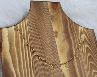 Gold Disc Choker