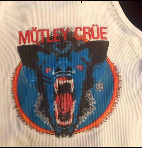1984 concert every mother\u2019s nightmare tour hair metal Vintage Motley Crue crop top tank top heavy metal tank top.