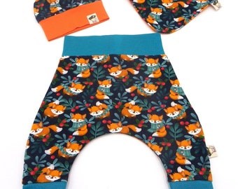 Set baby foxes winter 3 pieces