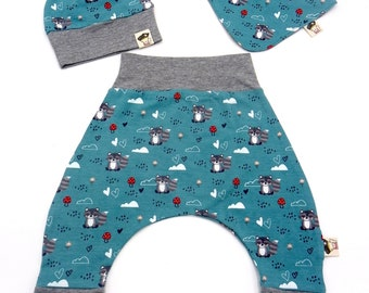 Baby set 3 pieces raccoons and mushrooms