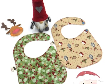 Set 2 bibs Christmas design
