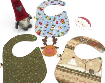 set of 3 bibs Christmas design