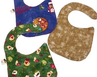 Set 3 Christmas bibs