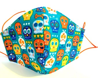 Reusable cotton children's mask with integrated tnt filter pirate model