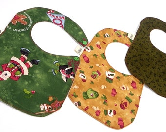 Set 3 bibs Christmas design