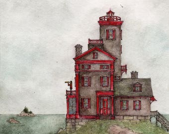 Henry's House, Front Elevation (Art Print)