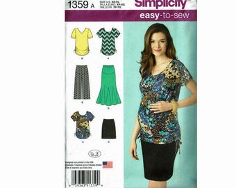 Simplicity 1359 Maternity Clothing XS - XL