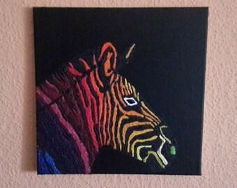 Zebra with a bright eye