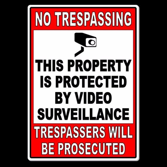 4 This Property Protected  Video Surveillance Trespassers Prosecuted SIGNS 8x12