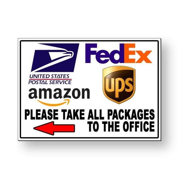 12x18 Leave All Packages And Deliveries Here Print Boxes Picture Large Business Office Sign Aluminum Metal