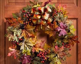 Berries & Leaves Wreath