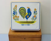 Rare vintage French Quimper Henriot pottery design tin Signed HB Henriot collection Excellent condition Collectible Gift Easy open/close