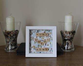 White Home Sweet Home 6x6 Box Frame