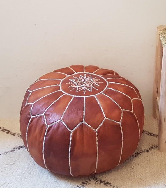 Pouf 40/% OFF,SET OF 3 poufs Moroccan Pouf foot stool,pouf,furniture,living room,chairs,special gift,leather pouf Home gift wedding gift