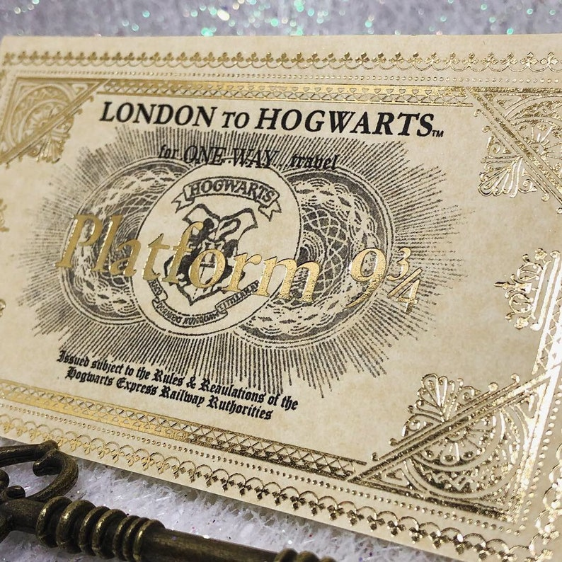 It is an image of Hogwarts Express Ticket Printable pertaining to word