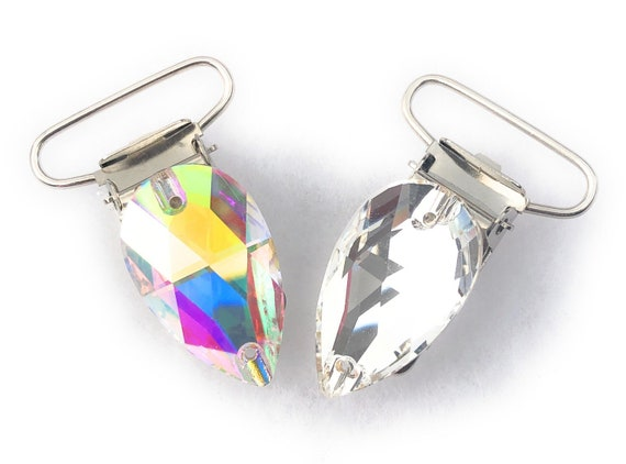 Irish dancing clear crystal number clips