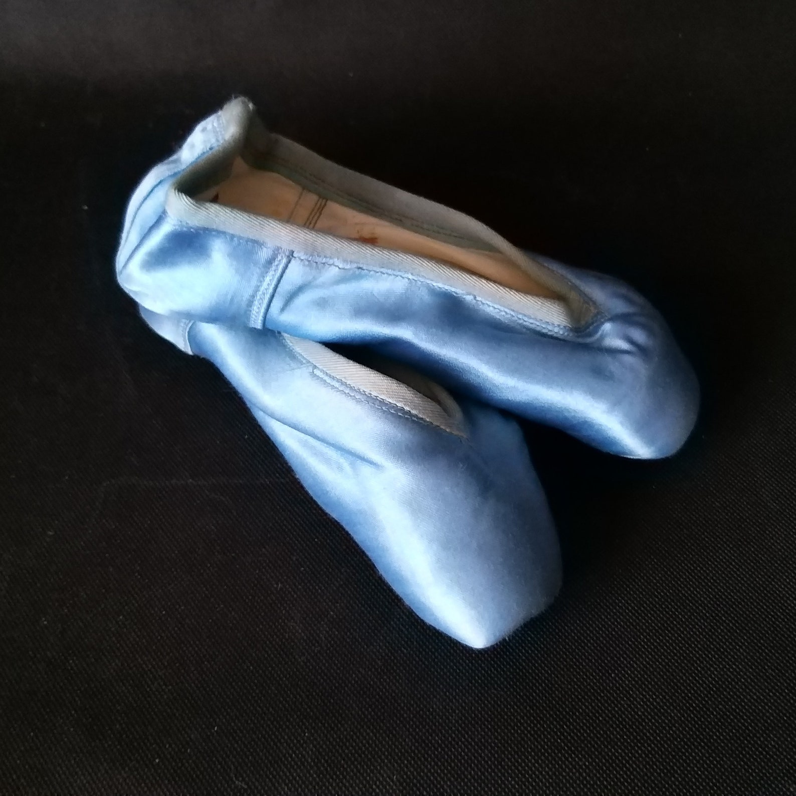 blue satin ballet pointe shoes vintage pair of pointe shoes slippers little girls shabby ballet shoes french romantic décor vint