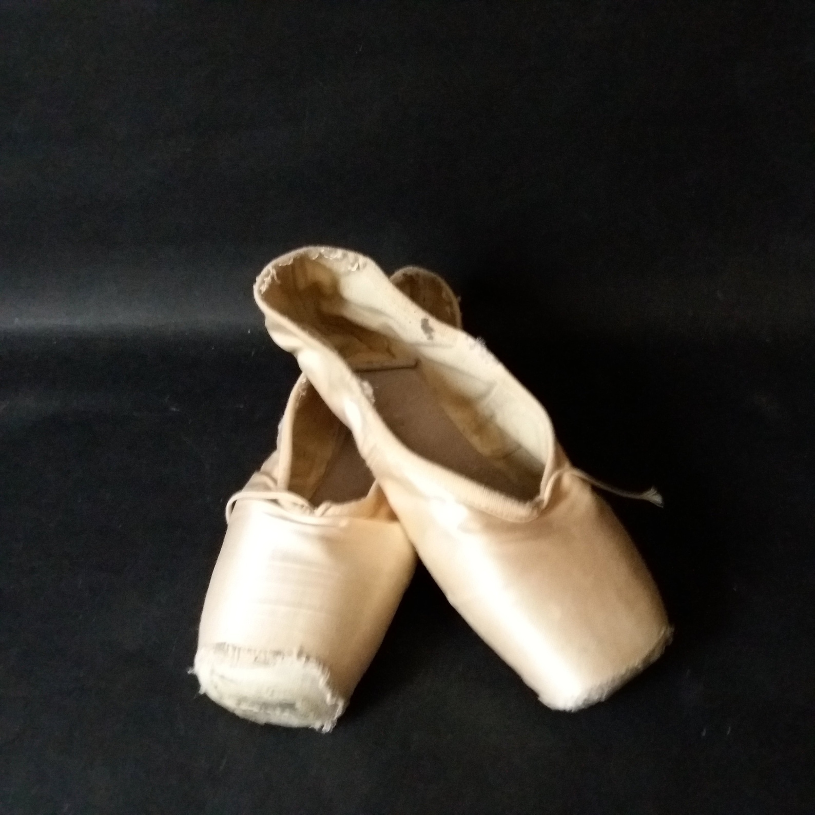 vintage pair of pointe shoes pink satin ballet pointe shoes slippers ribbon little girls shabby ballet shoes brocante style roma