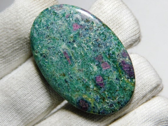 For Making Jewelry,Size 35X20X6mm A-2039 Immaculate 100/% Natural Ruby Fuchsite Oval Shape Cabochon Loose Gemstone 41.5 Ct Top Grade Quality