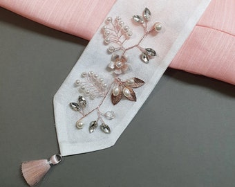 Rose Gold Flower Ribbon Accessory for Hanbok 향대
