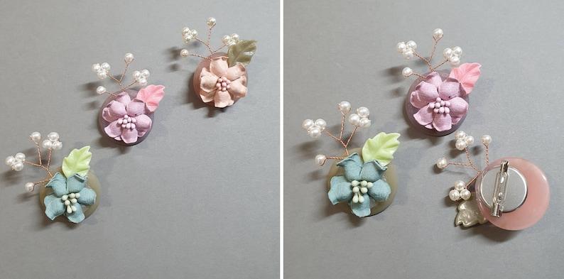 Flower Brooch Accessory for Hanbok
