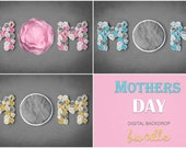 Mother's Day Digital Backdrop Bundle, Digital Backdrop Newborn Digital Background, Newborn Digital Photo Prop, Digital backdrops Mothers day