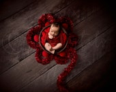 Top view digital Newborn Backdrop , Christmas Digital background with wooden bucket and Christmas ornaments, for girl and boy photography