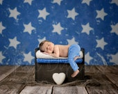 Stars and Bed Digital Backdrop, Wooden Bed Digital Background, Newborn Digital Backdrop Boy, America Flag Stars, Patriotic Background