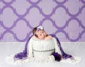 Purple theme newborn digital backdrop with white bucket