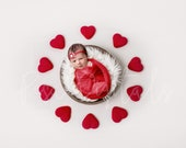 Red Hearts Digital Backdrop, Newborn Digital Backdrop, Heart Backdrop, Newborn Backdrop, Hearts Girl Background, Red Hearts, Girls