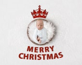 Merry Christmas sign digital newborn backdrop, Christmas Noel holiday backdrop, Newborn Digital Backdrop, Crown and Letters background