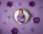 Purple Flower Backdrop, Digital Backdrop, Newborn Digital Backdrop, Purple Backdrop, Newborn Backdrop, Flower Backdrop, Girls Backdrop