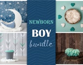 Digital Backdrop Newborn Boy Bundle, Digital Backdrop Newborn Digital Background, Newborn Digital Photo Prop, Digital backdrops Newborn Boy