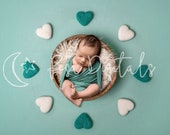 Green Hearts Digital Backdrop, Newborn Digital Backdrop Boy Girl, Heart Backdrop, Newborn Backdrop, Hearts Backdrop, White Heart Backdrop