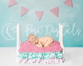 Newborn Digital Backdrop, Newborn Backdrop, Backdrop Wooden Bed, Natural Backdrop, Newborn photography, Natural Wooden Bed Backdrop