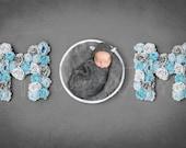 MOM sign newborn digital backdrop, Mother's day background, Floral letter Backdrop, Flower letter digital photo prop, Photoshop background