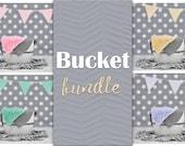 Bucket Digital Backdrop Bundle, Bucket Backdrop, Newborn Backdrop Bundle, Natural Backdrop, Wooden Bucket, White Bucket Backdrop