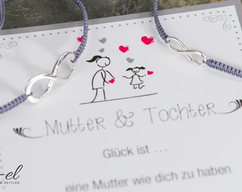 Mother daughter Infinity 925 silver