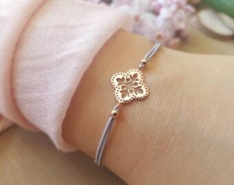 Bracelet Flower 925 Silver Gift